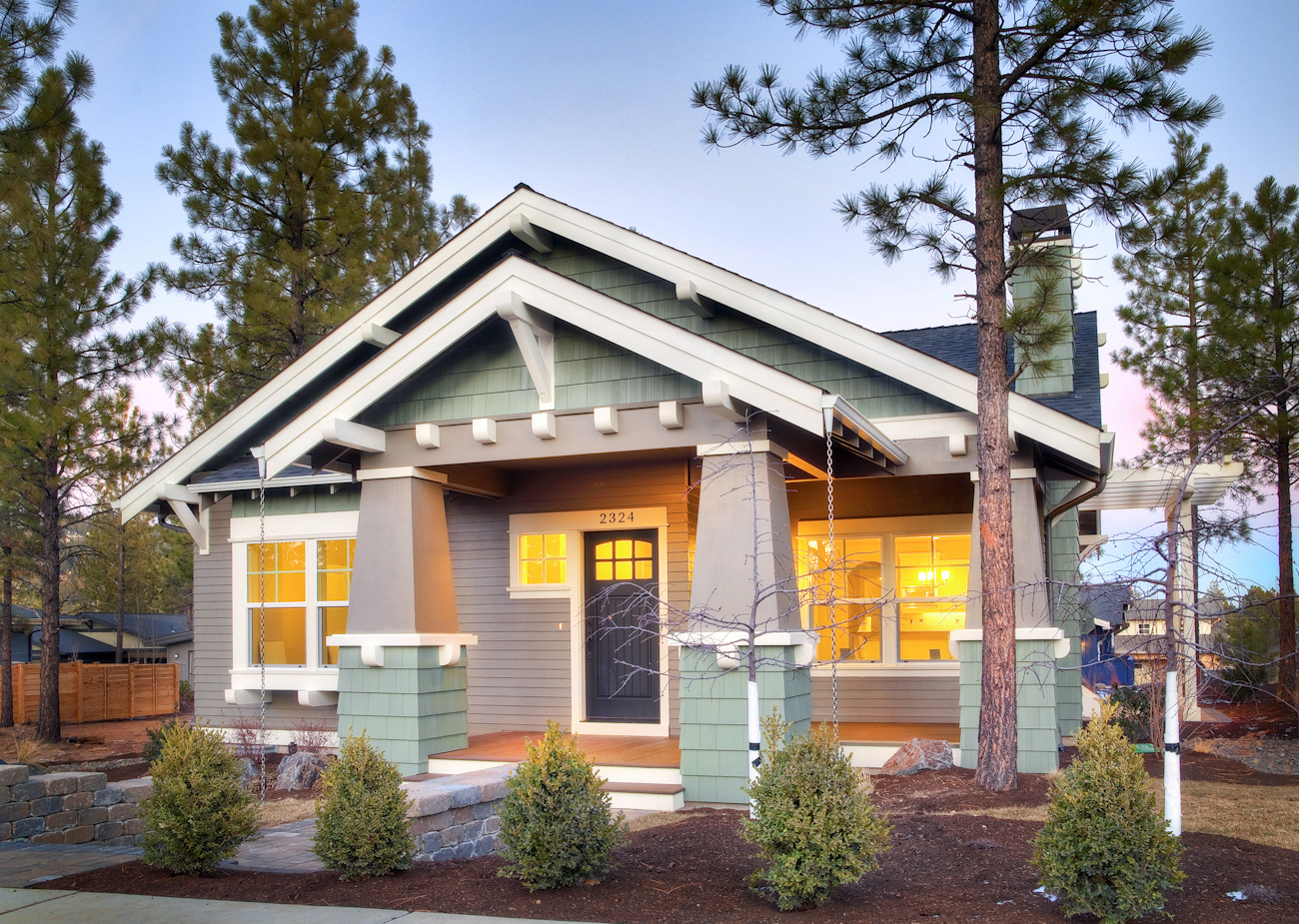Cottage style craftsman typically a one story