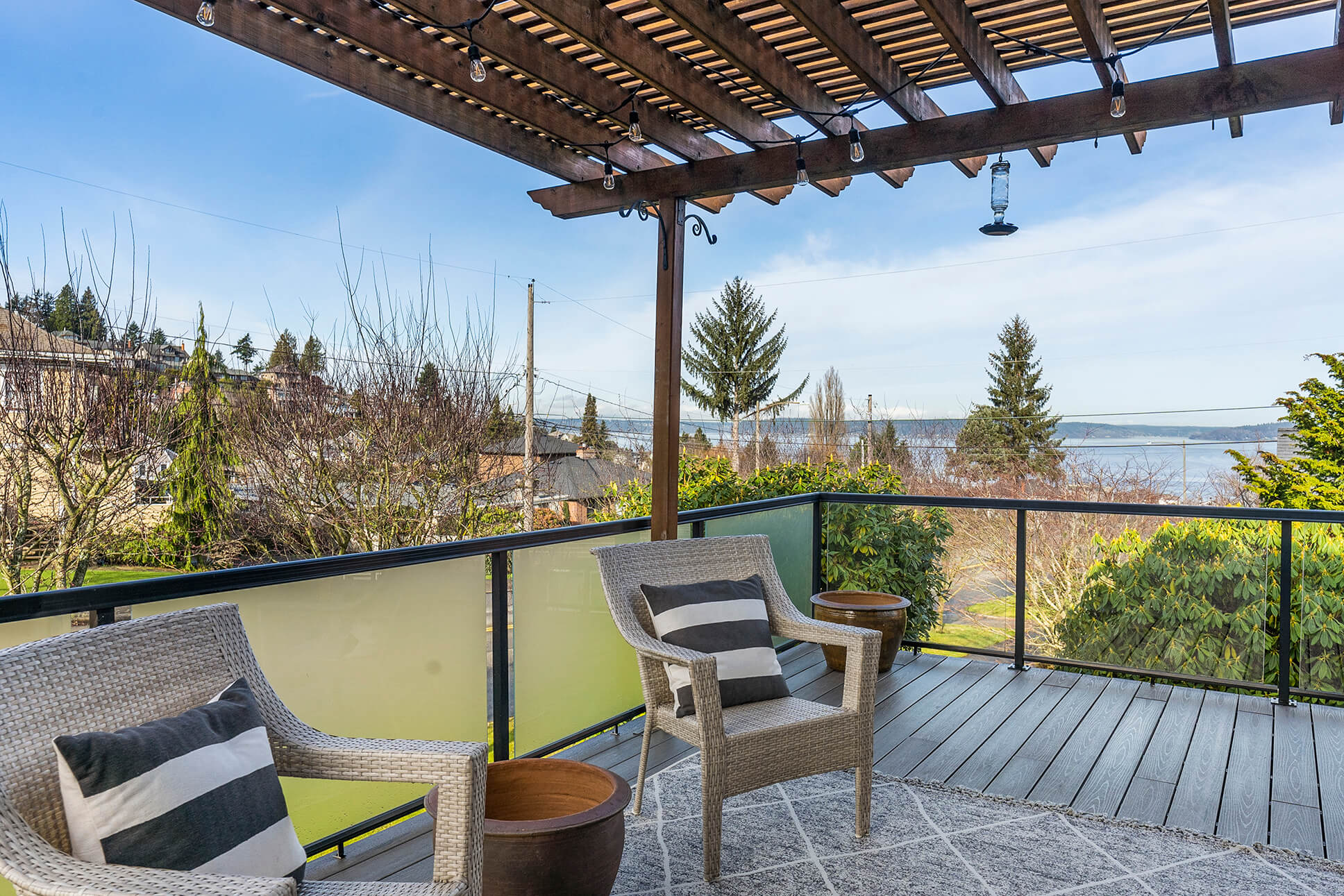 Gentle views of Old Town, Commencement Bay and Vashon Island