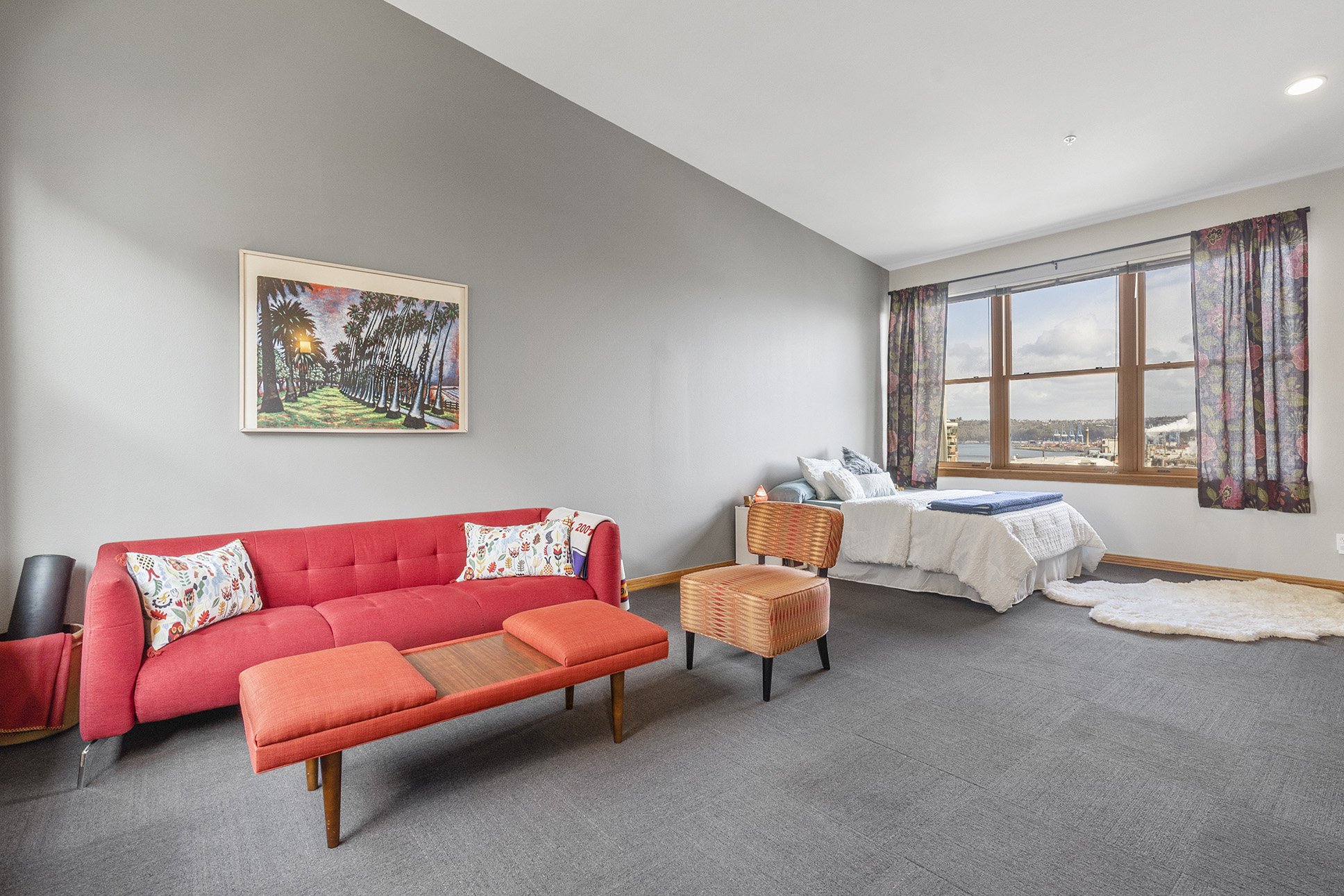 Spacious third floor master bedroom