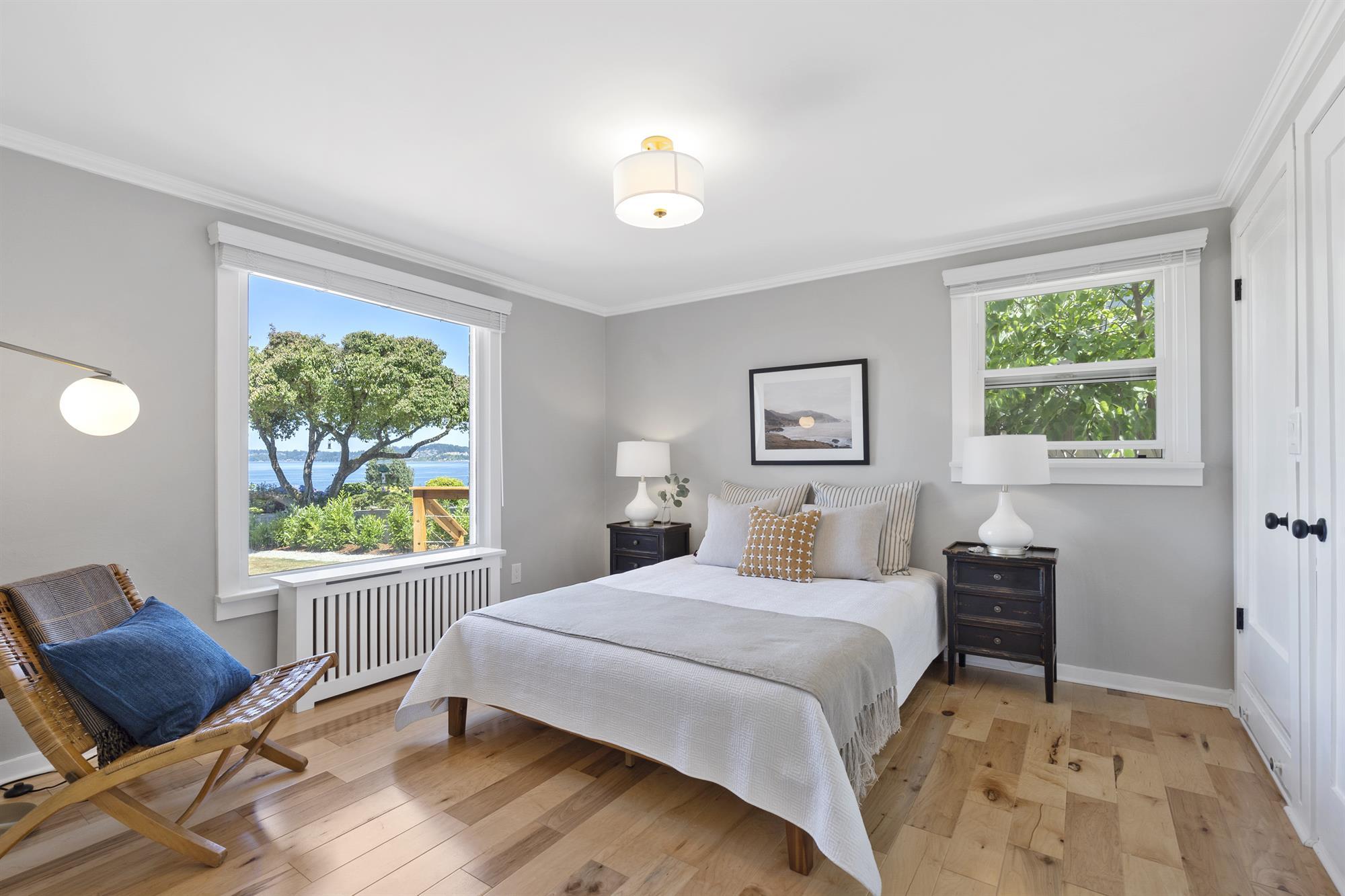 Main floor bedroom offers ample closet storage
