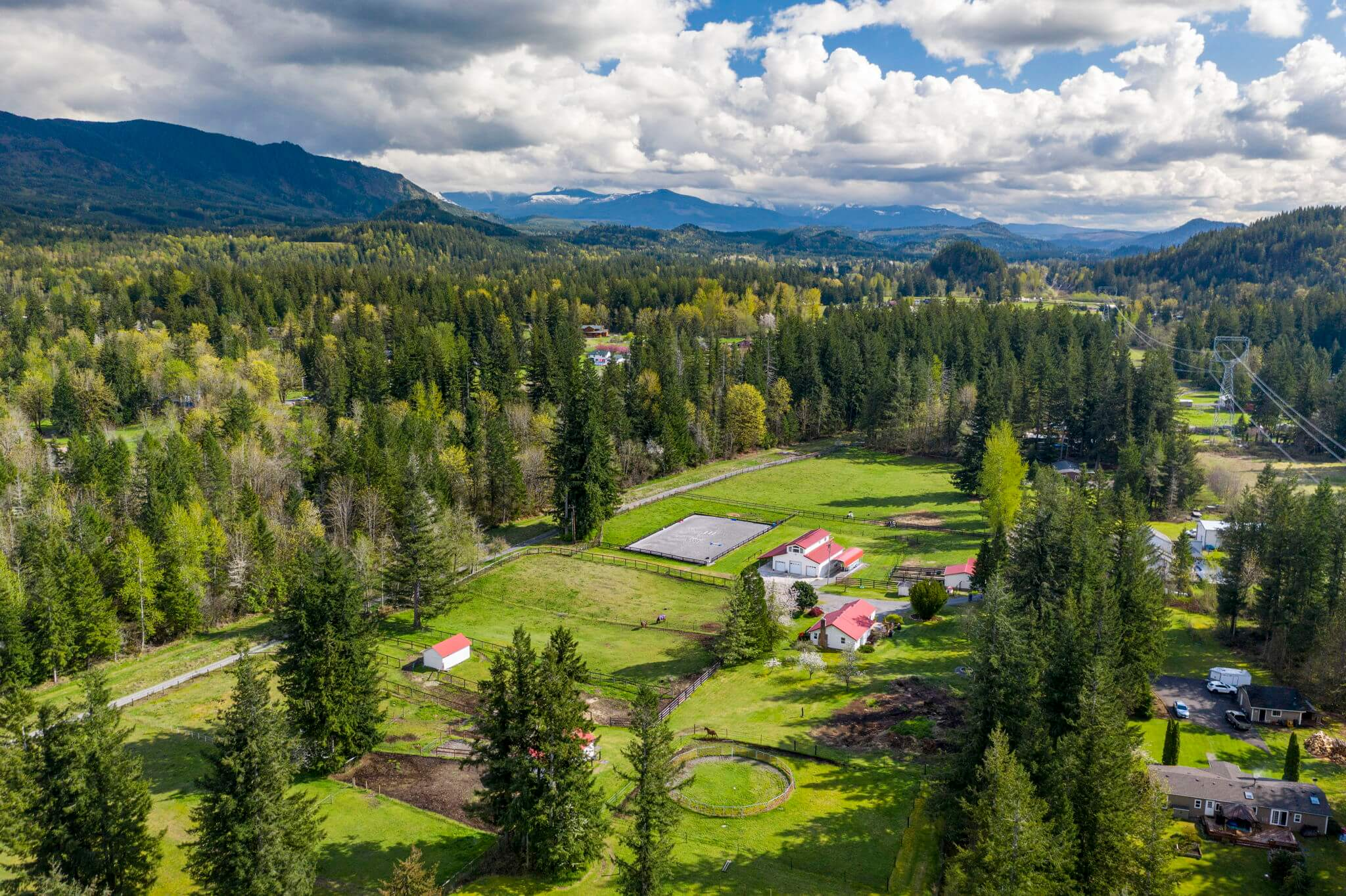Veazie Valley Farm is a secluded 9.56 acre equestrian facility