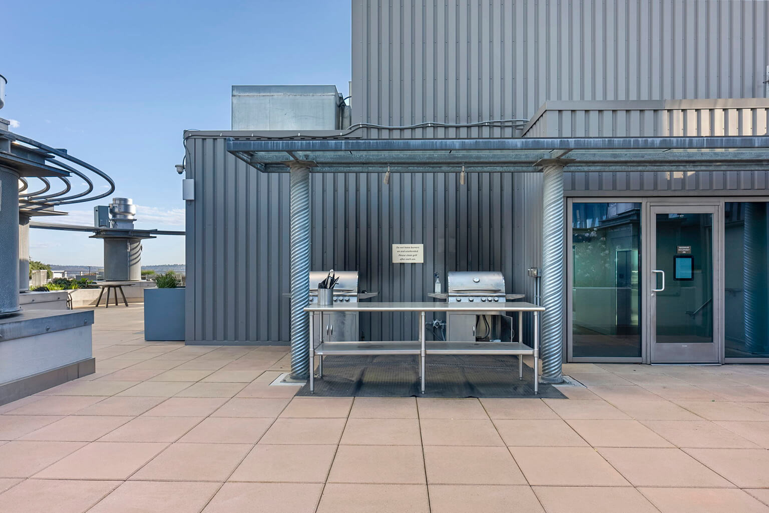 Multiple gas grills