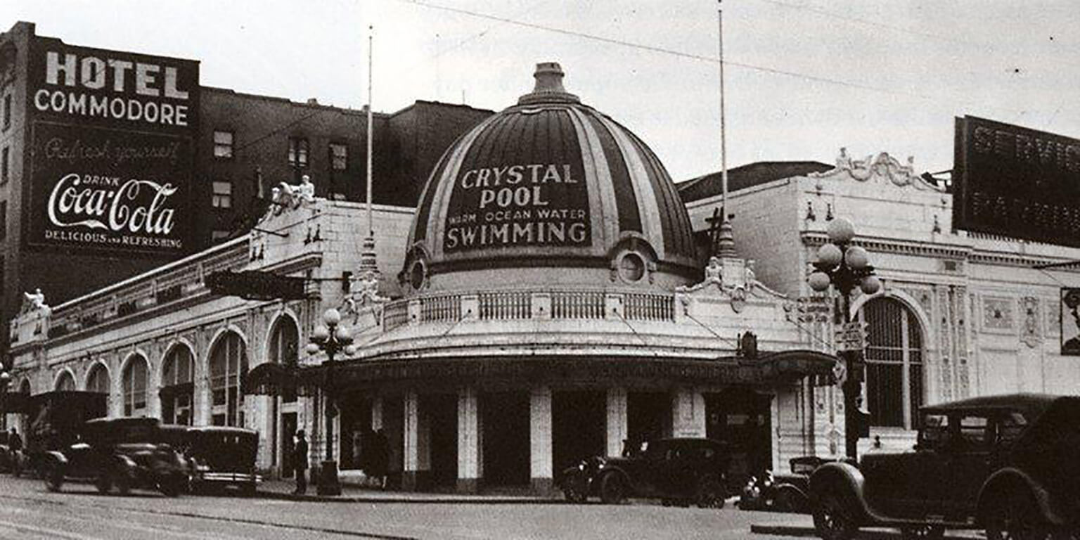 Crystal Pool building circa 1919