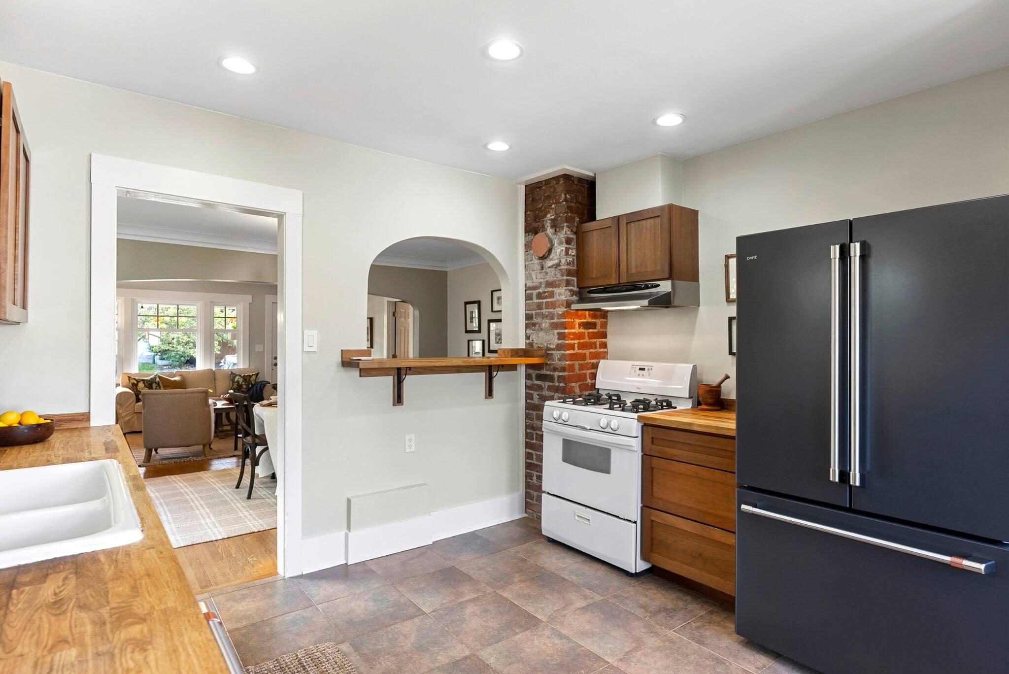 Newer GE Cafe black stainless refrigerator