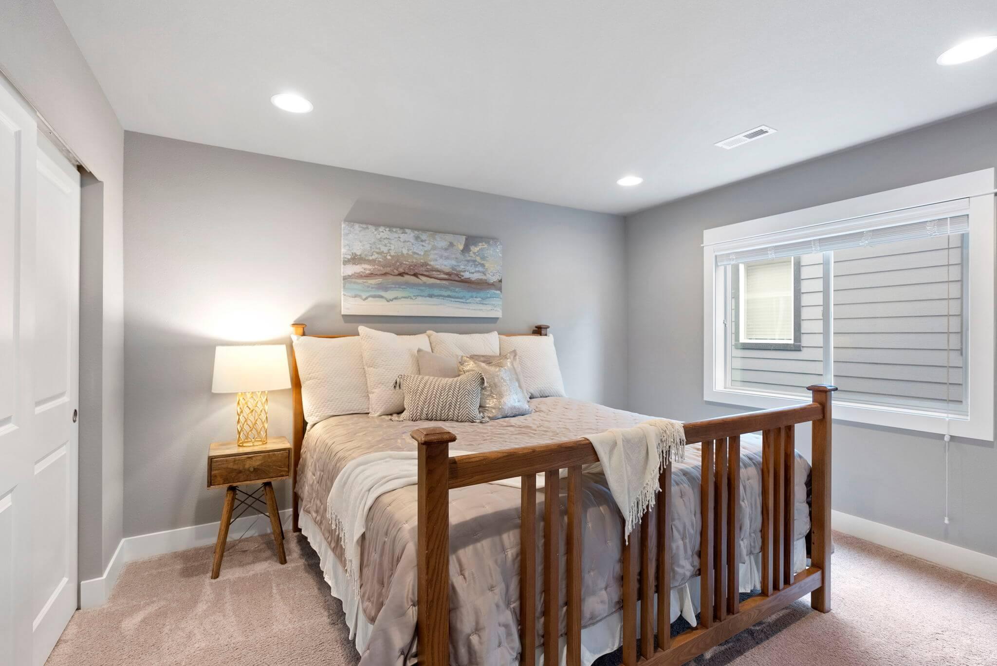 Third of three upstairs bedrooms