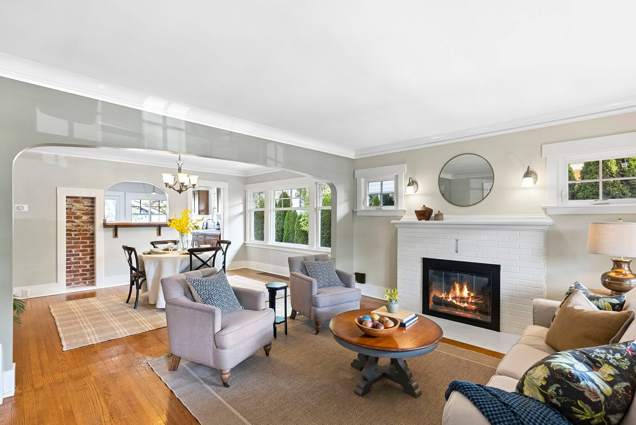 Hardwood floors in the living and dining rooms