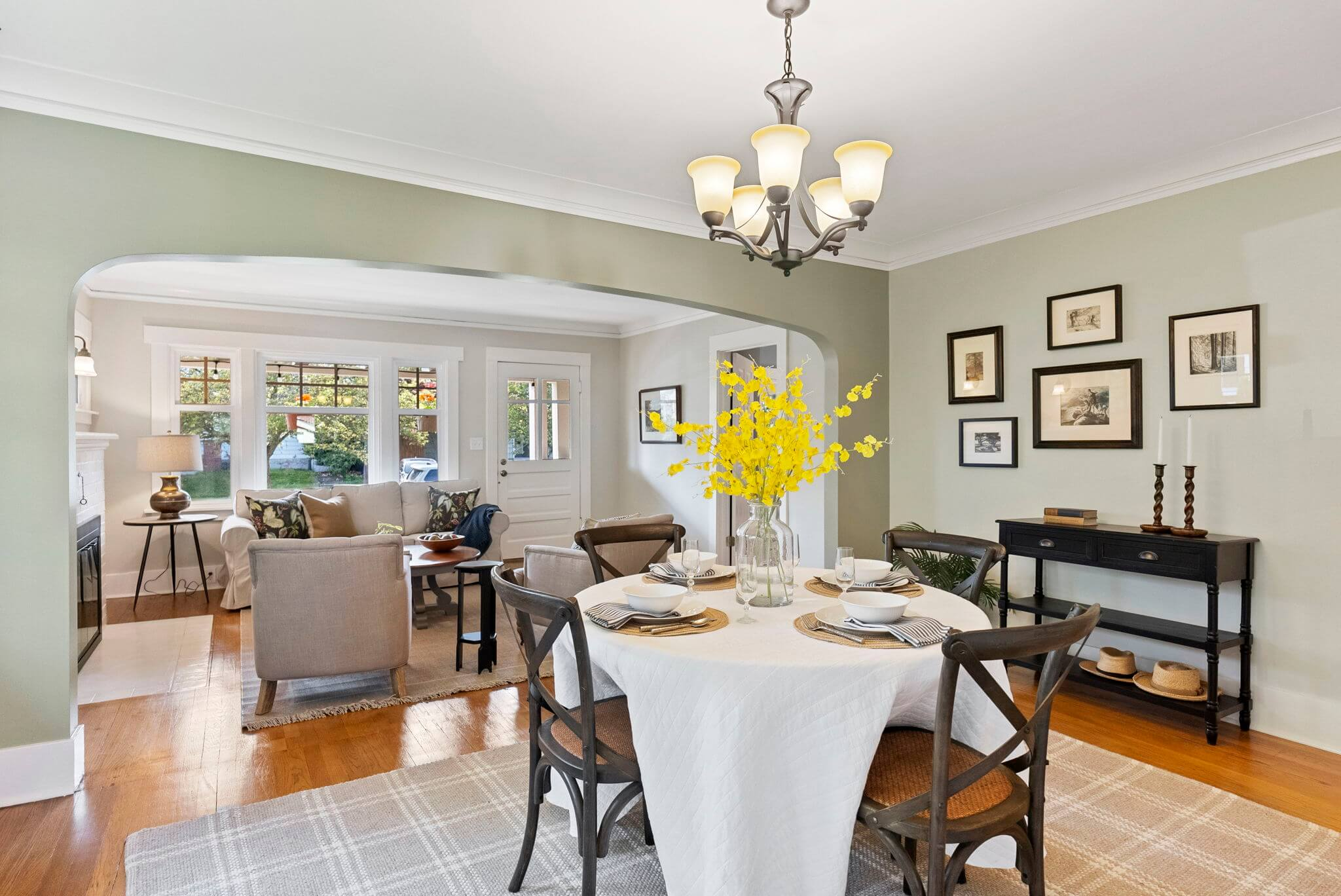 Spacious dining room is ideal for entertaining