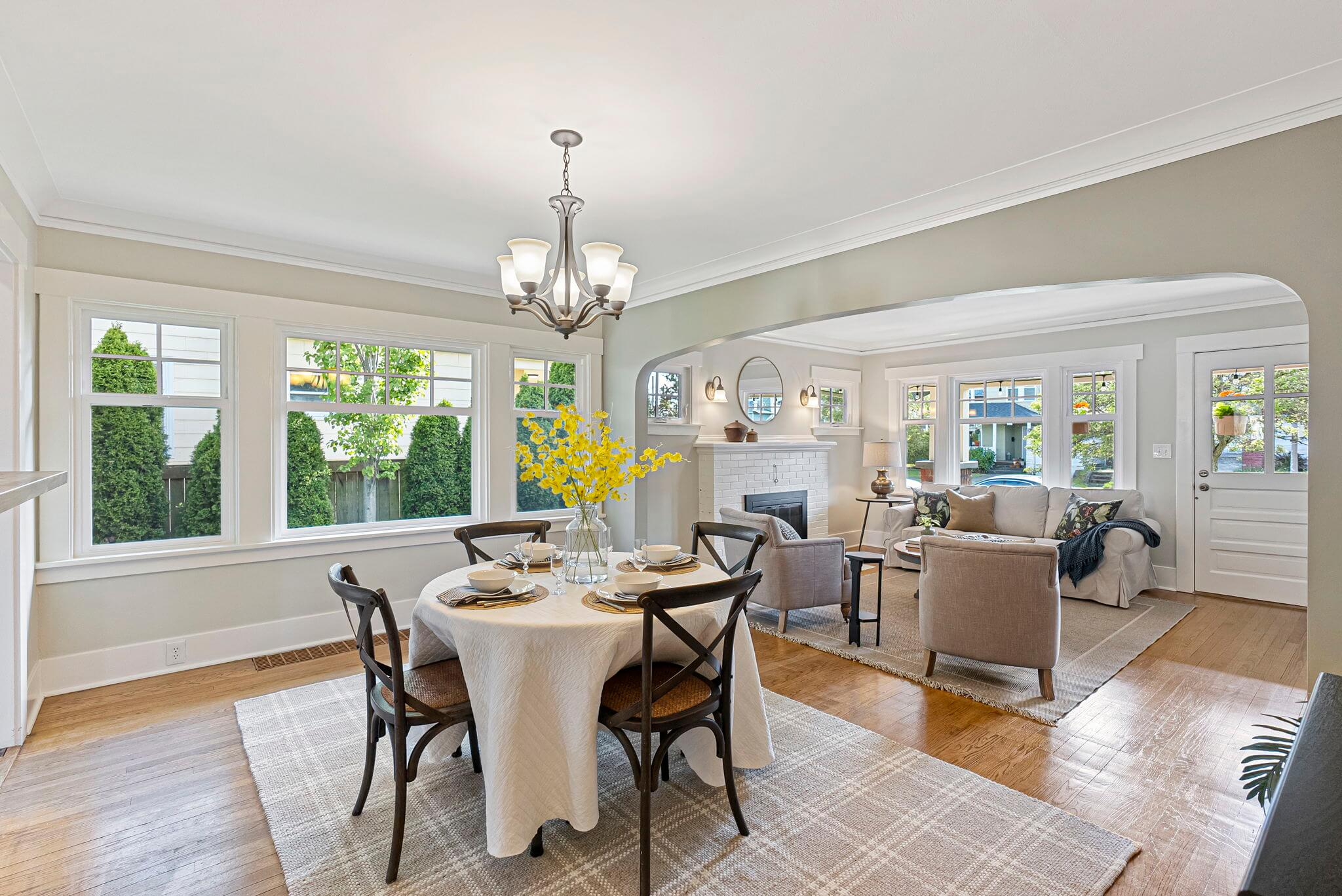 Dining room is open to the living room