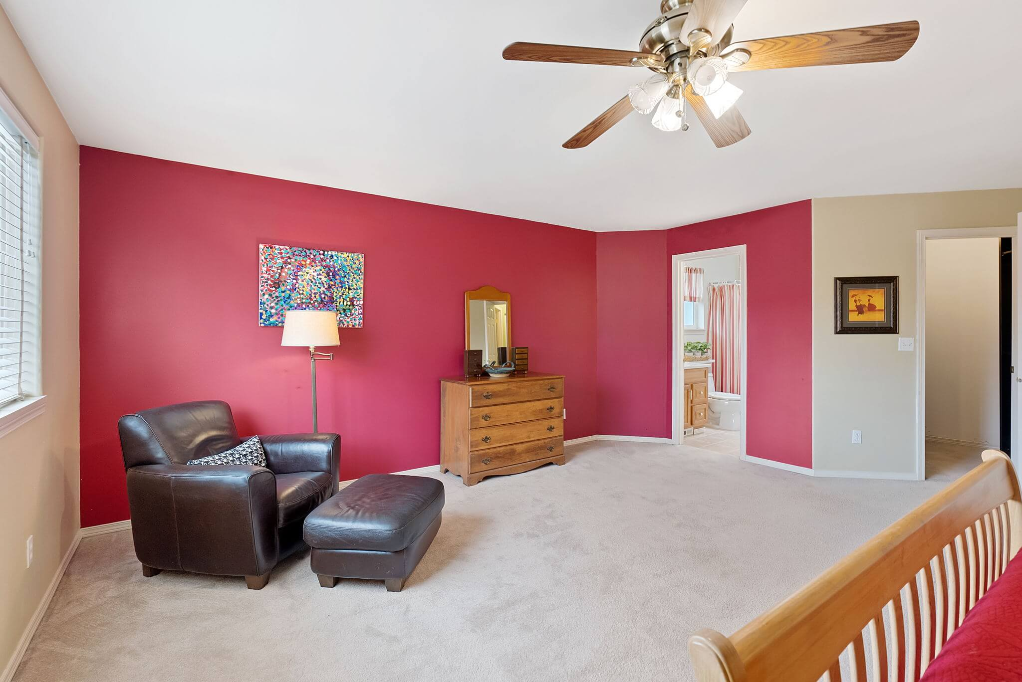 Primary suite includes a dedicated bathroom and walk-in closet
