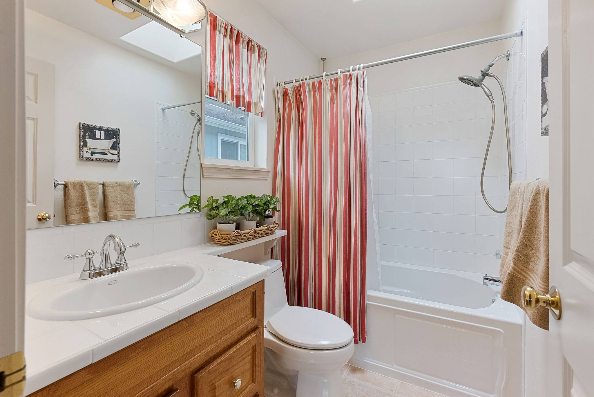Primary bathroom with jetted tub