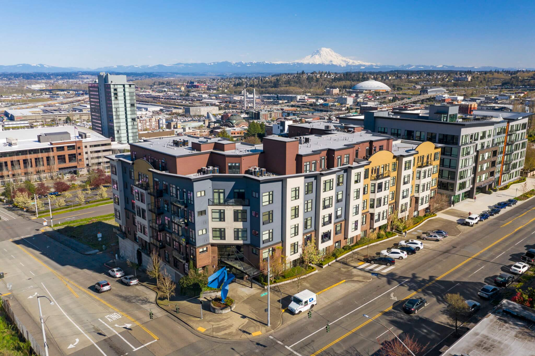 The Marcato provides easy access to the convention center and the University of Washington at Tacoma