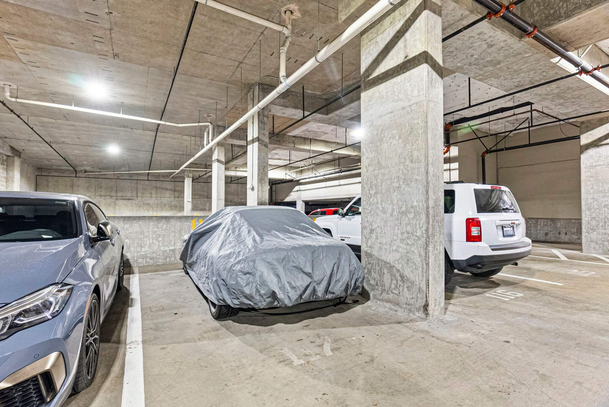 Unit comes with one secure garage parking space