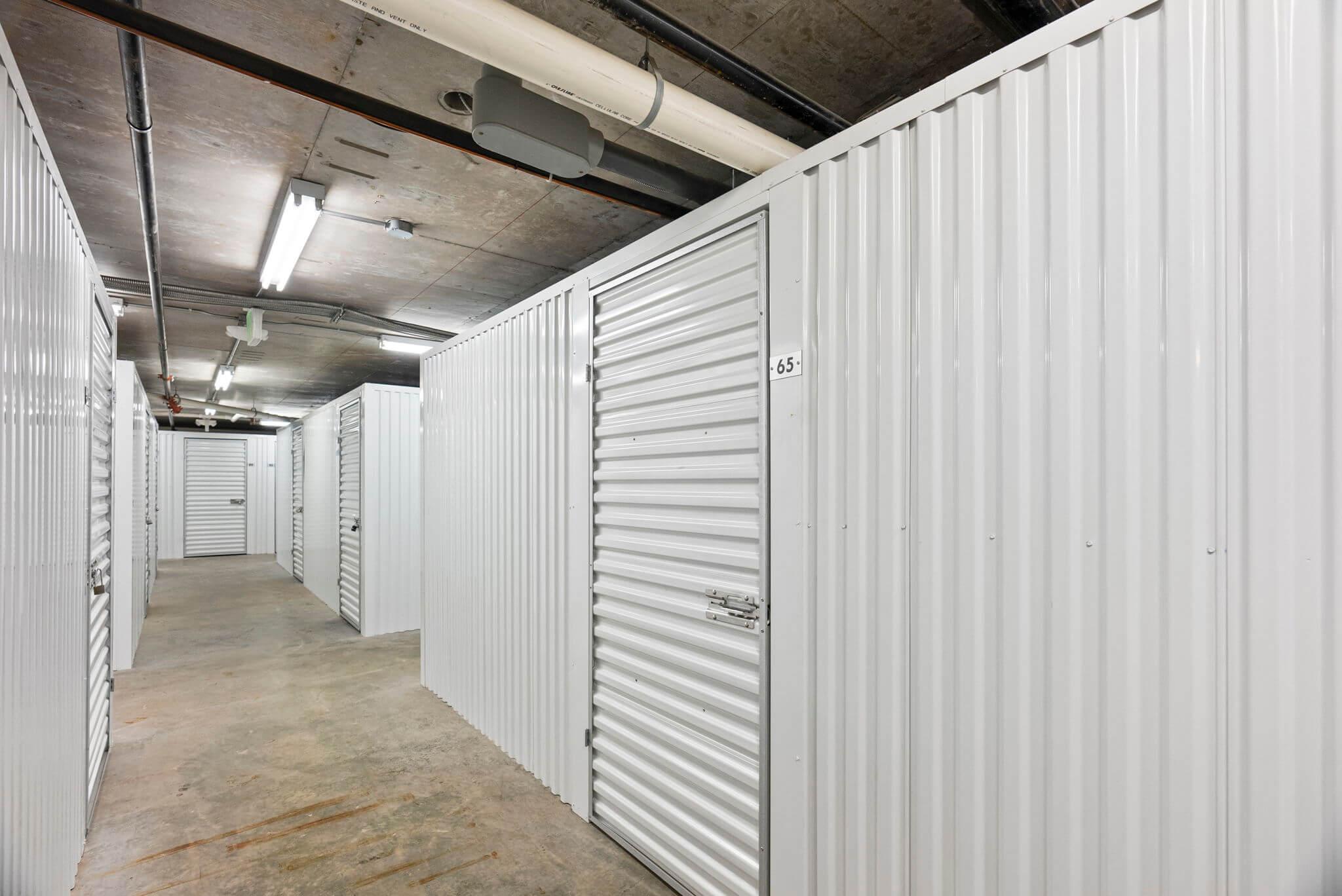 Unit comes with a private storage unit