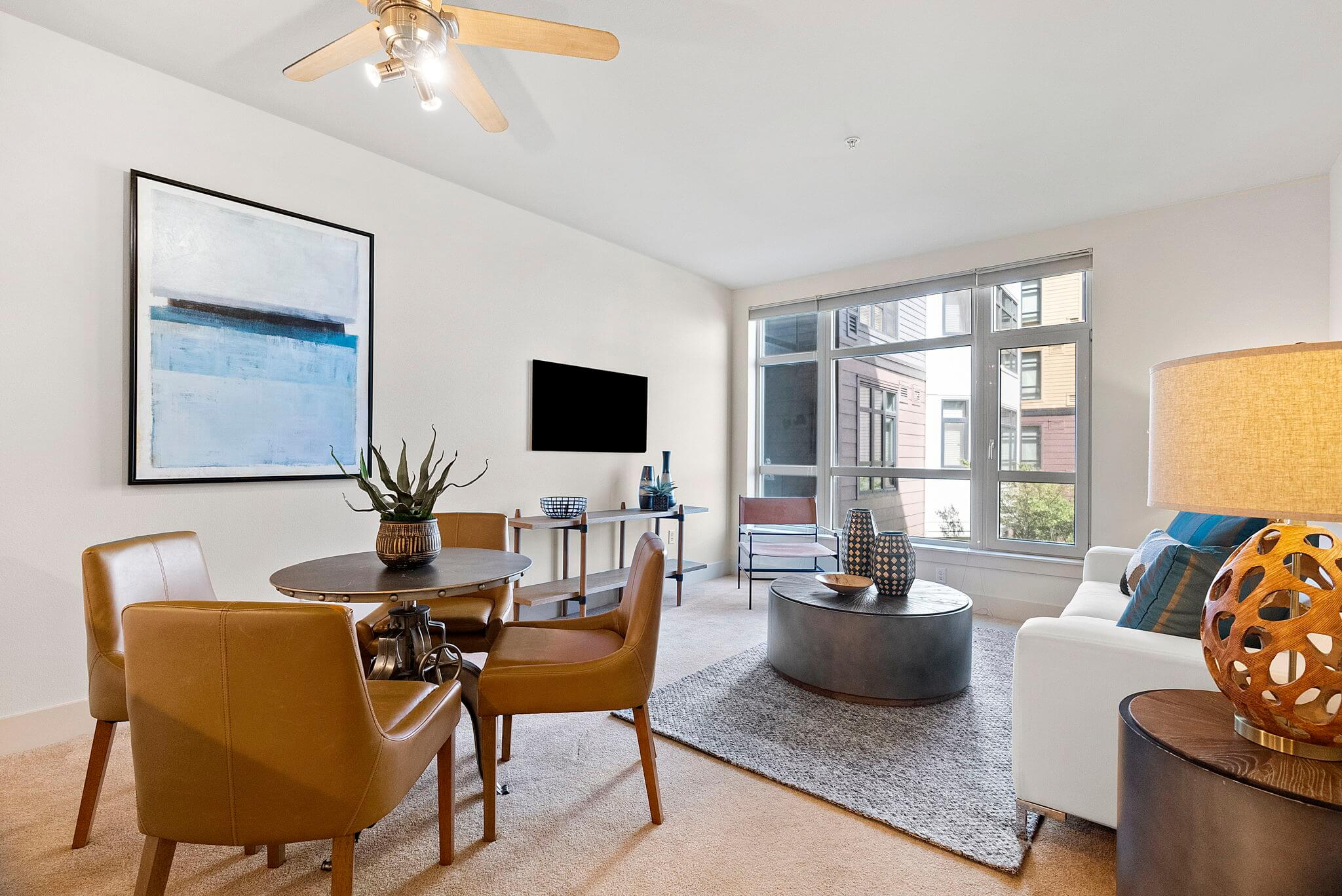 Ample space for living and dining