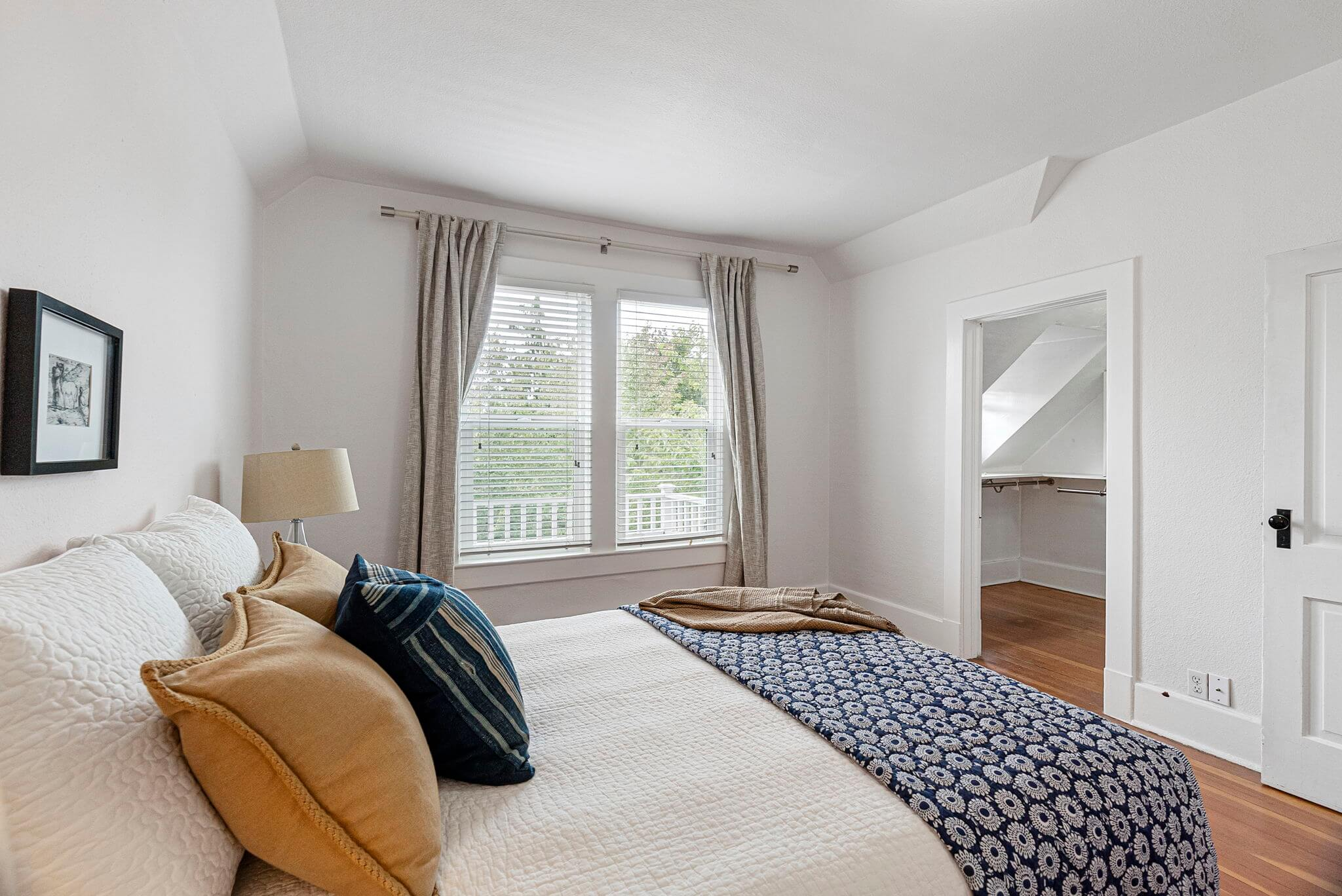 Primary bedroom with large walk-in closet