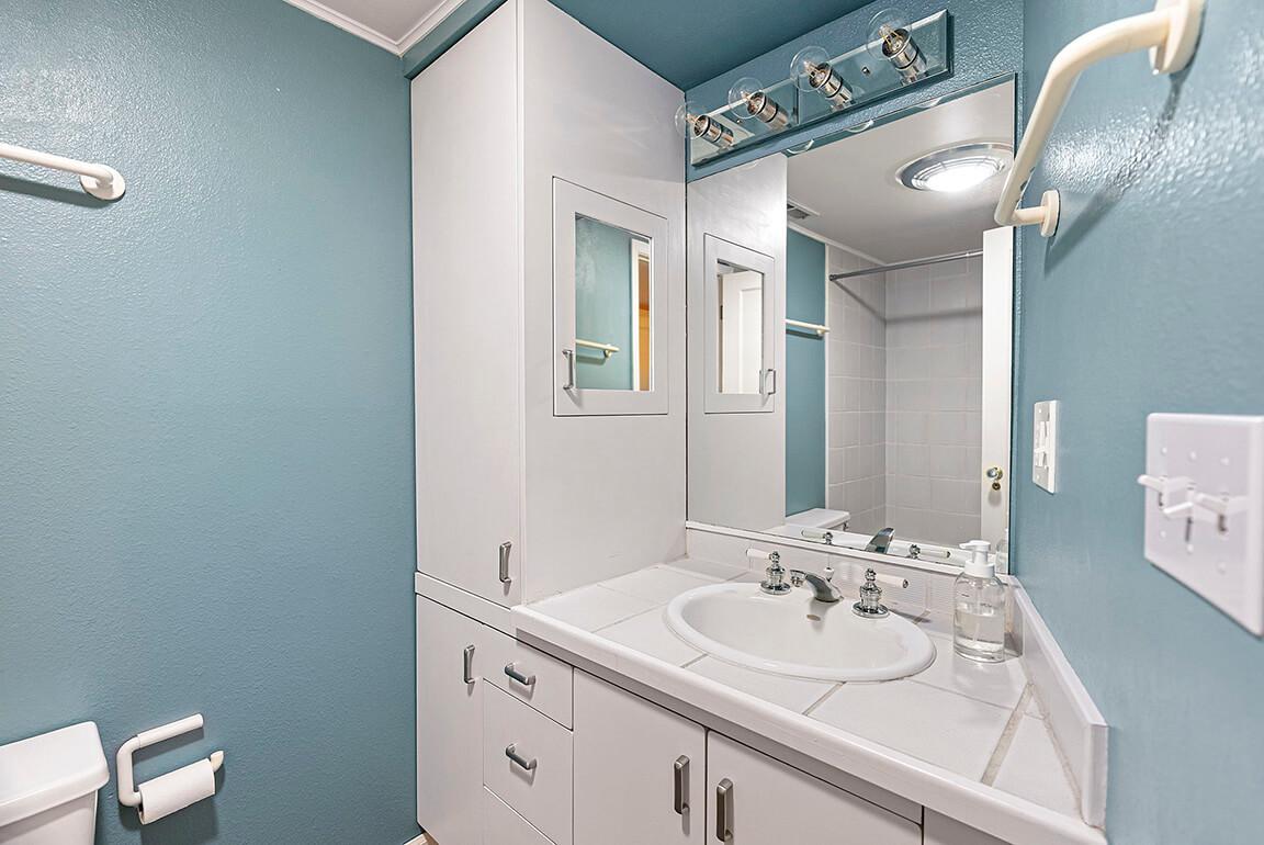 Full bathroom on the lower level