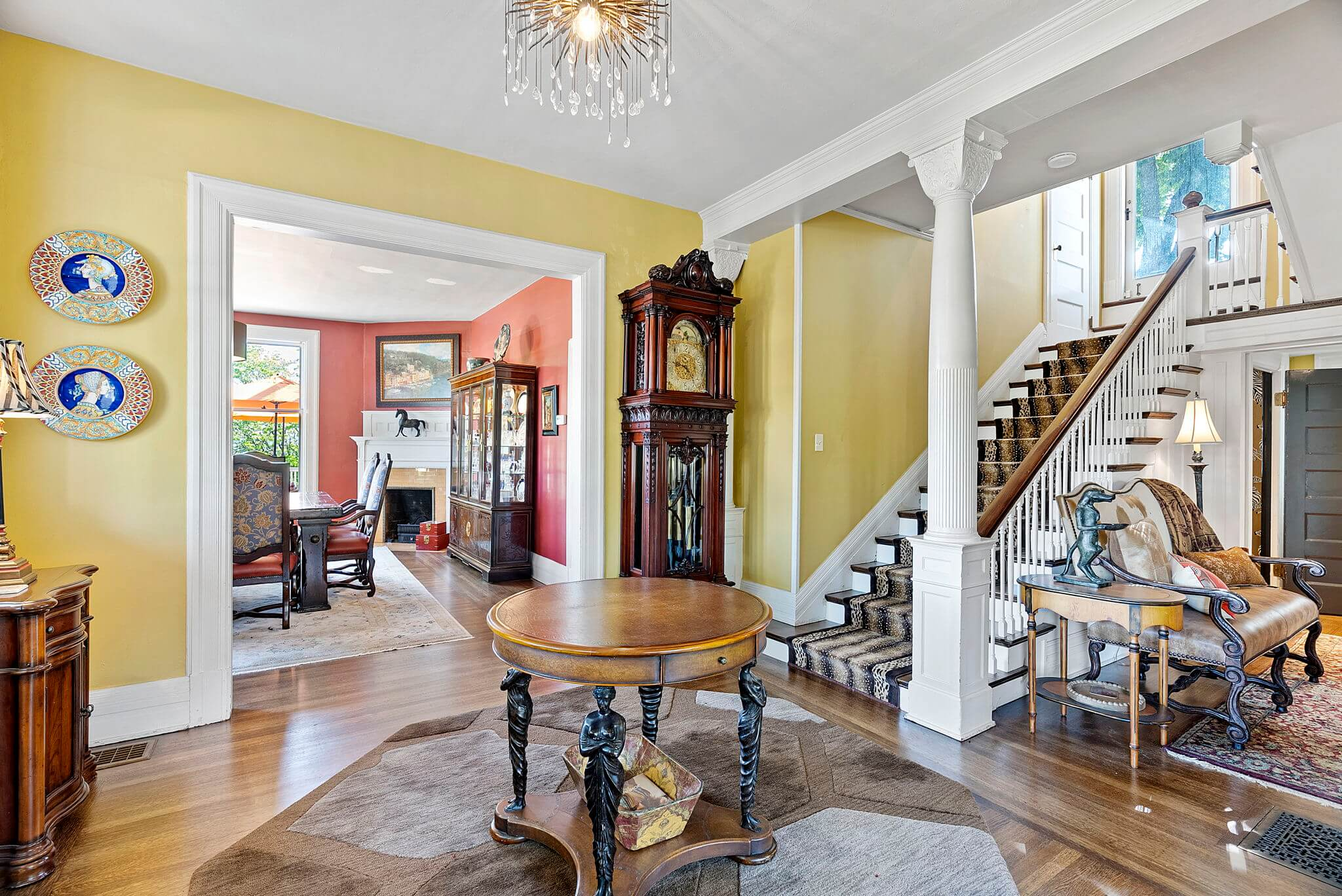 Formal entry with view towards dining room