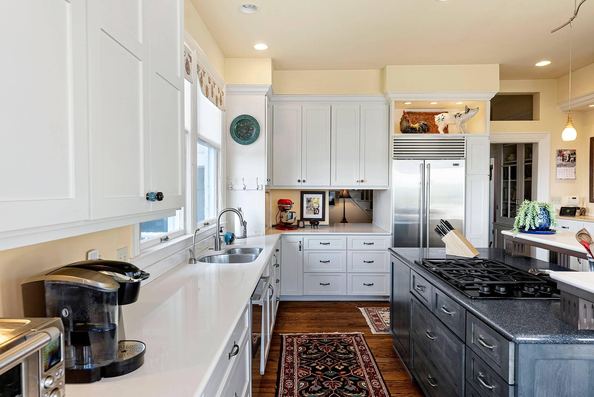Gas cook top and Sub-Zero refrigerator