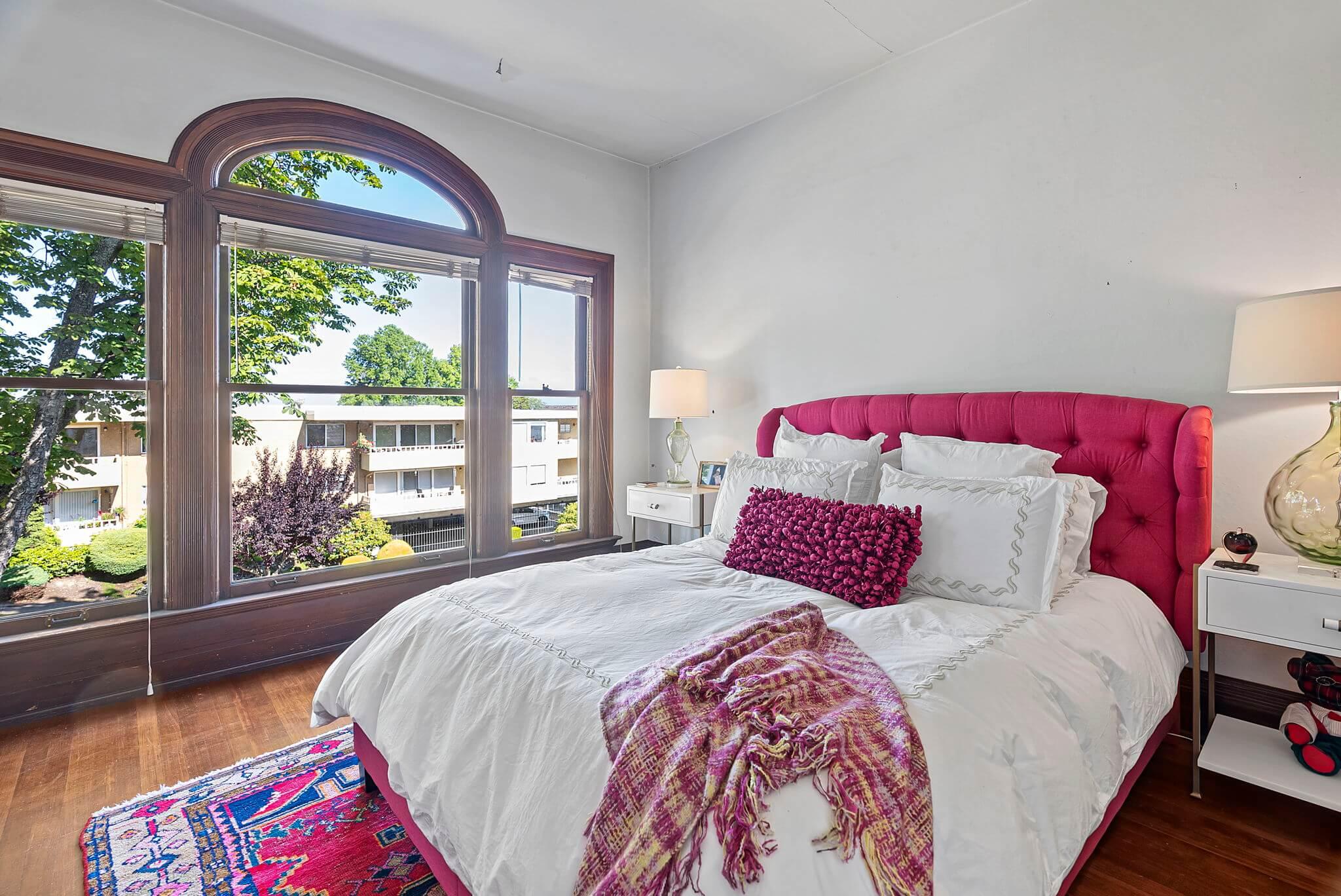 Bedroom #3 features Palladian windows