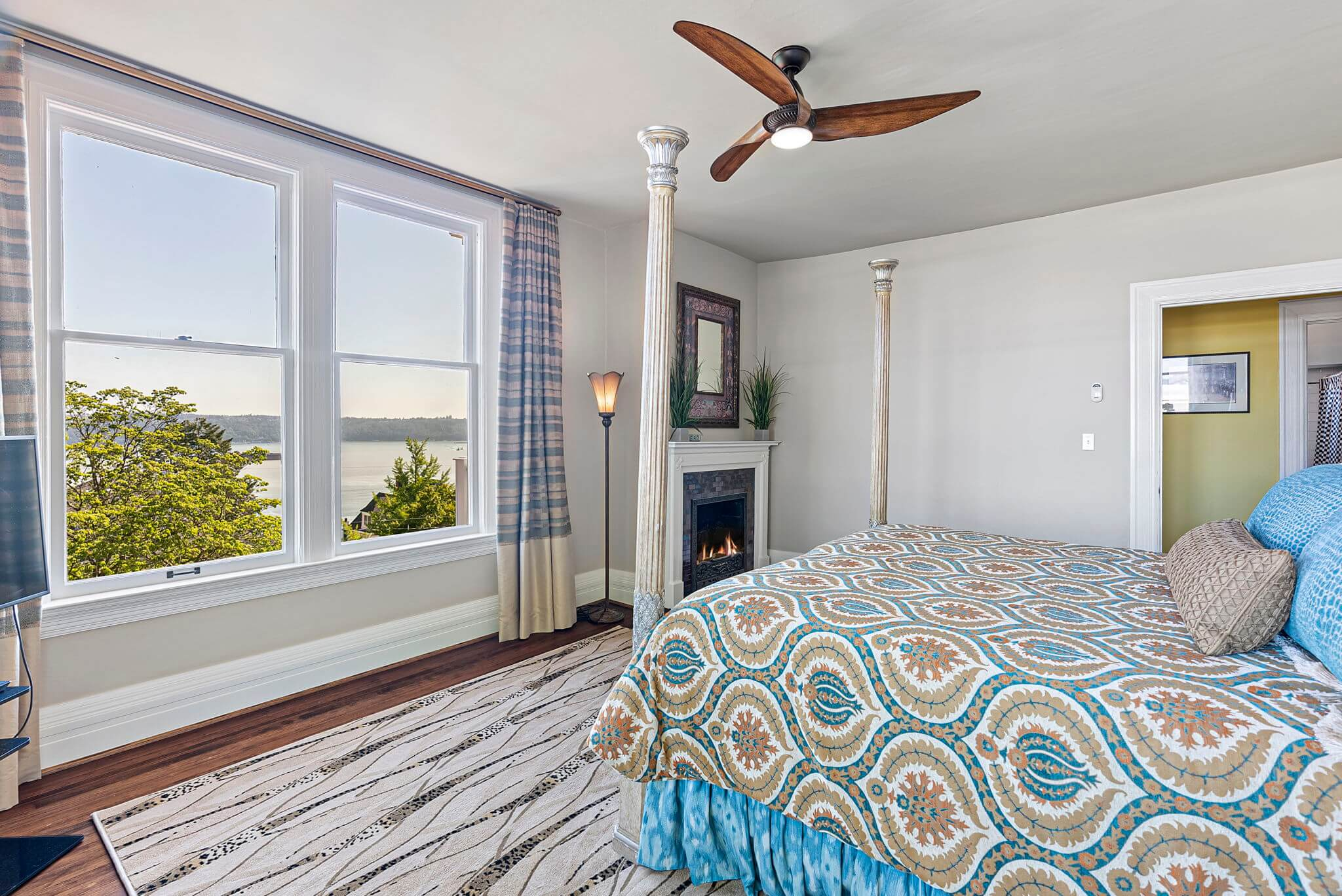 Bedroom #4 offers a great water view