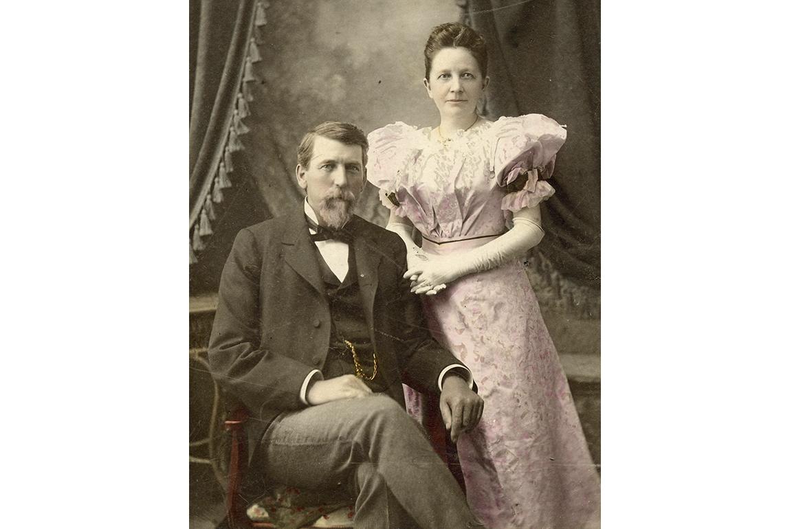 Charles and Franke Tobey Jones circa 1880
