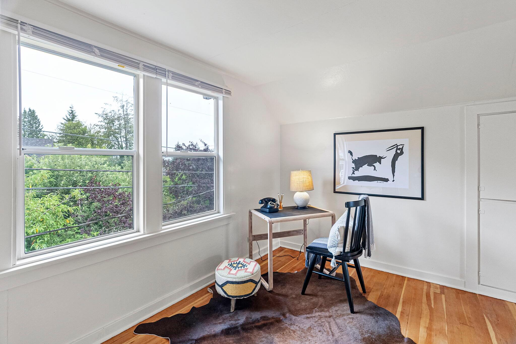 Plenty of space for a home office on the upstairs landing