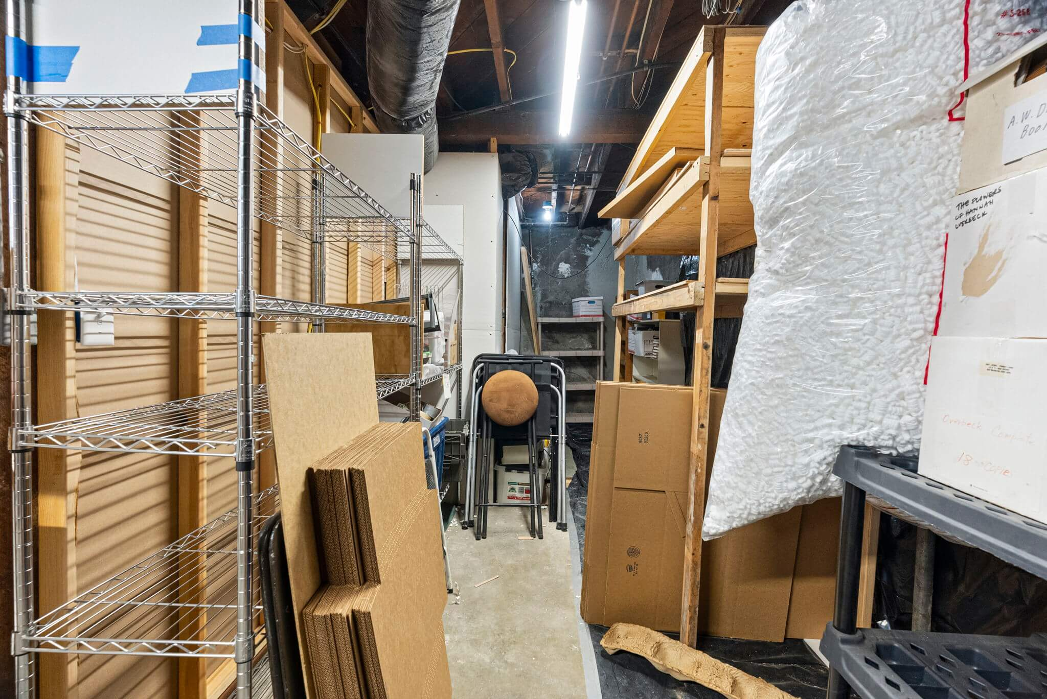 Additional storage in the basement