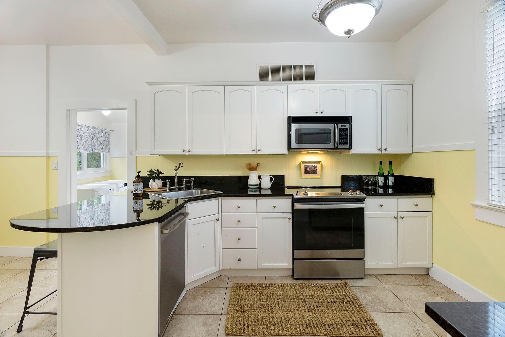 New stainless range and dishwasher